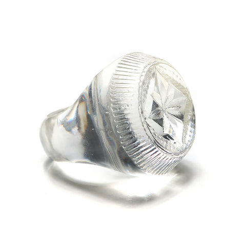 Bottlestop Ring Vintage Clear