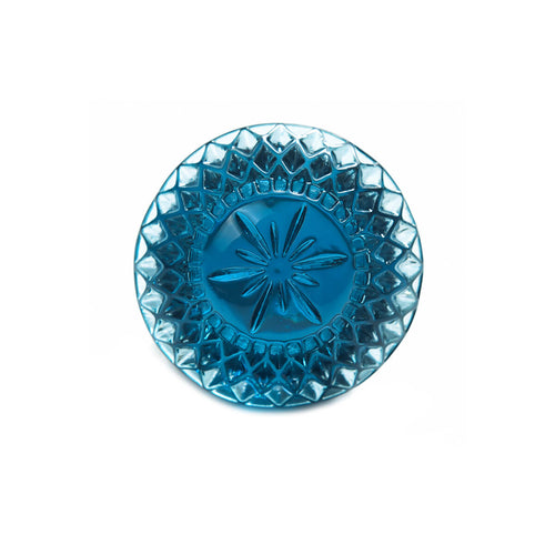 NEW IN Etched Circle Ring Classic Blue
