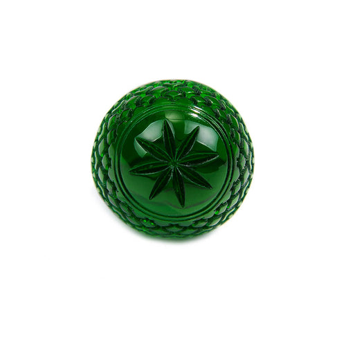 Etched Dome Ring Emerald Green