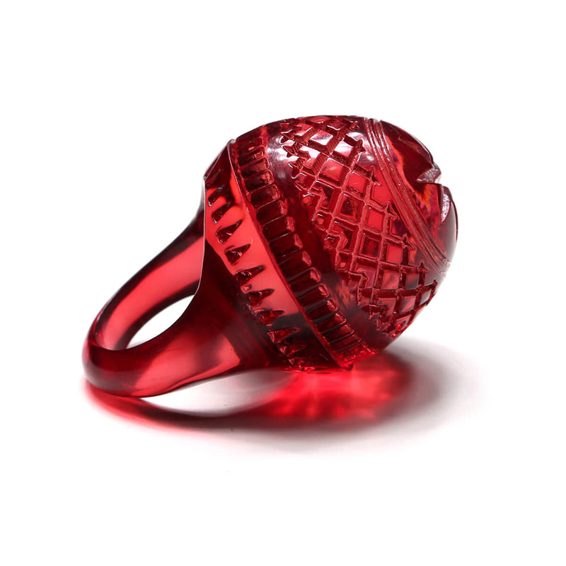 Etched Dome Ring Burgundy