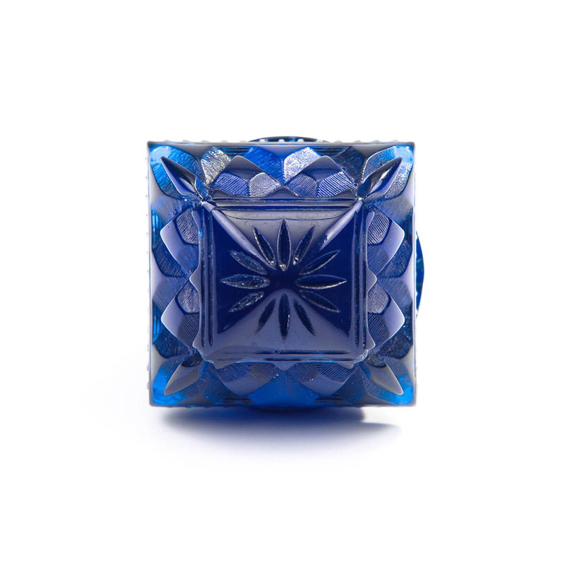 Carved Square Ring Sapphire