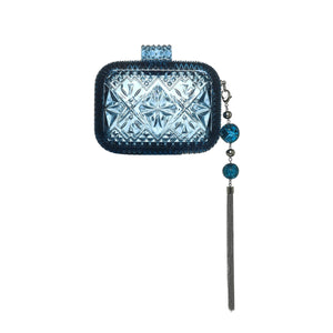 PRE-ORDER Hand Carved Clutch Classic Blue