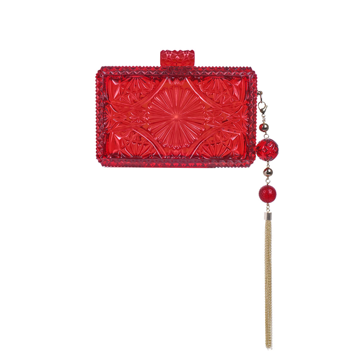 handmade vintage cut glass inspired clutch in burgundy red