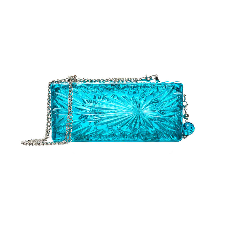 Long Rectangle Clutch Aqua