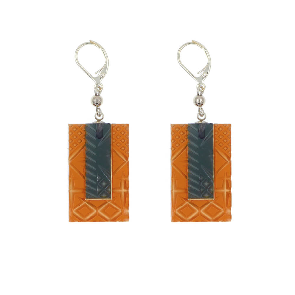 douglaspoon hand carved resin earrings