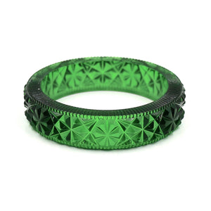 Faceted Bangle Emerald Green