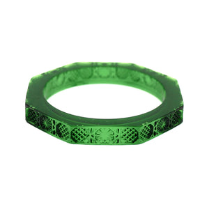 NEW IN   Emerald Green Slim Octagon Bangle