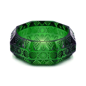Octagon Bangle Emerald Green