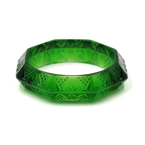 Octagon Edged Bangle Emerald Green