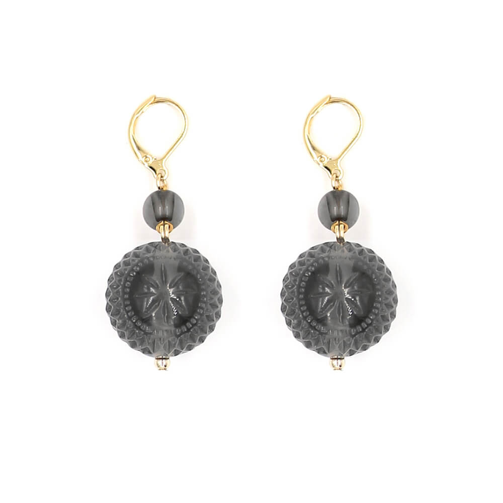 Frosted Ball Earrings