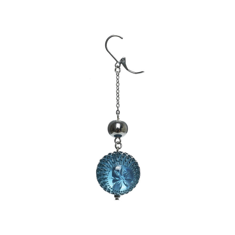 NEW IN Frosted Ball Drop Earrings Classic Blue