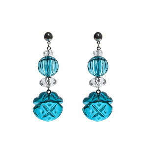 NEW IN Multi Shape Stud Earrings Aqua & Clear