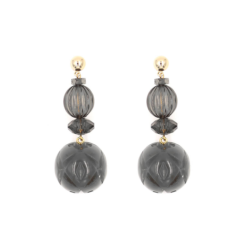 NEW IN  Multi Shape Stud Earrings Dark Grey