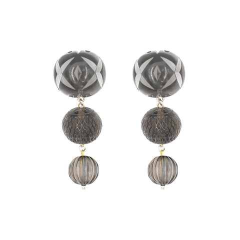 PRE-ORDER     Triple Ball Etched Stud Earrings