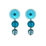 Multi Disc Stud Earrings Aqua