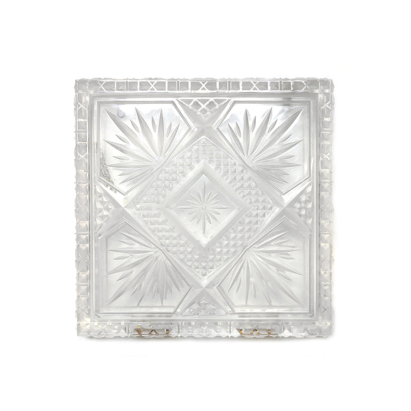 Hand Carved Box Clutch Vintage Clear