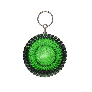 NEW IN Hand Carved Large Circle Clutch Emerald Green