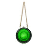 SOLD OUT - PREORDER AVAILABLE Hand Carved Large Circle Clutch Emerald Green