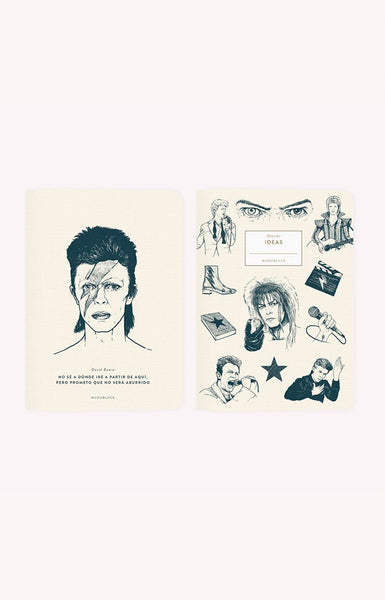 Libreta x2 - Makers David Bowie