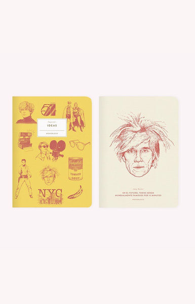 Libreta x2 - Makers Andy Warhol Superstar