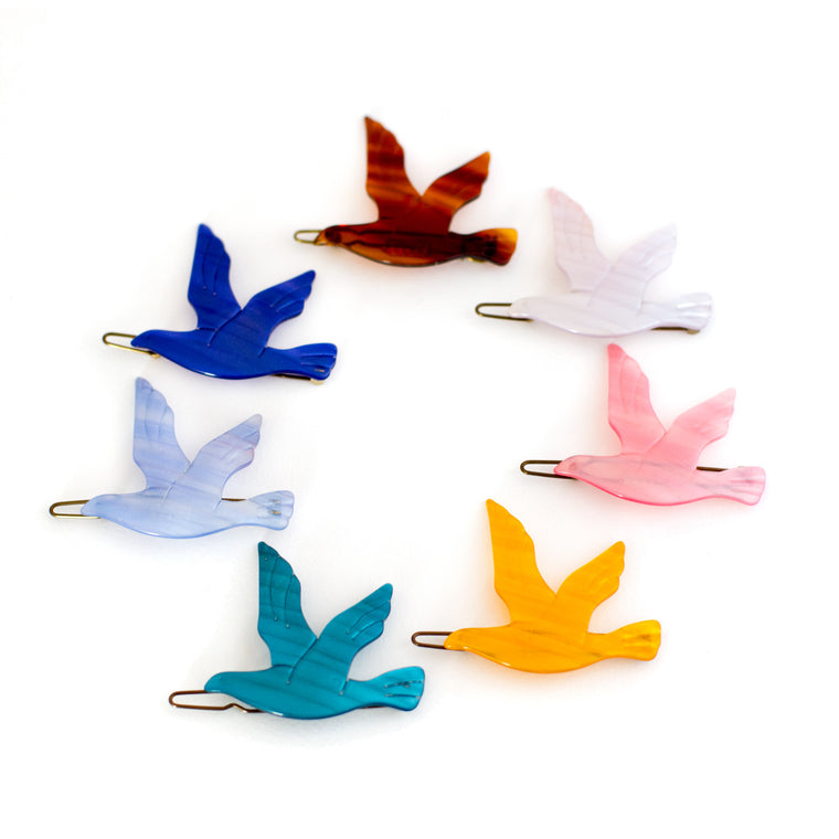 vintage bird barrettes | clips plastic made in france | mane message