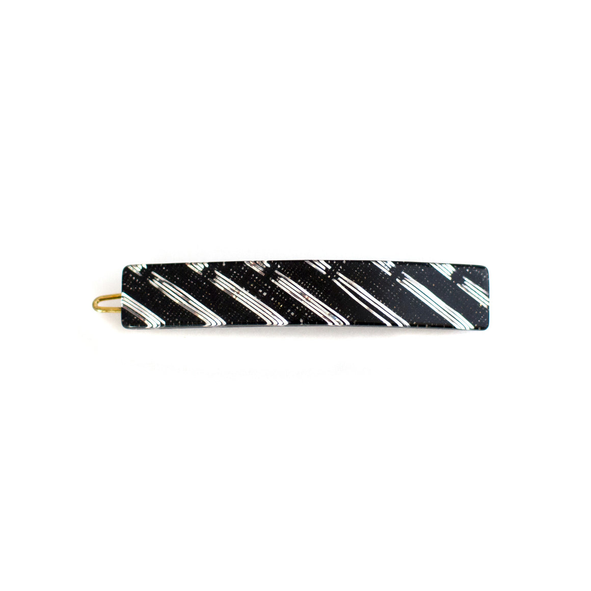 vintage black and silver 1960s hair barrette | hair clip curated by mane message