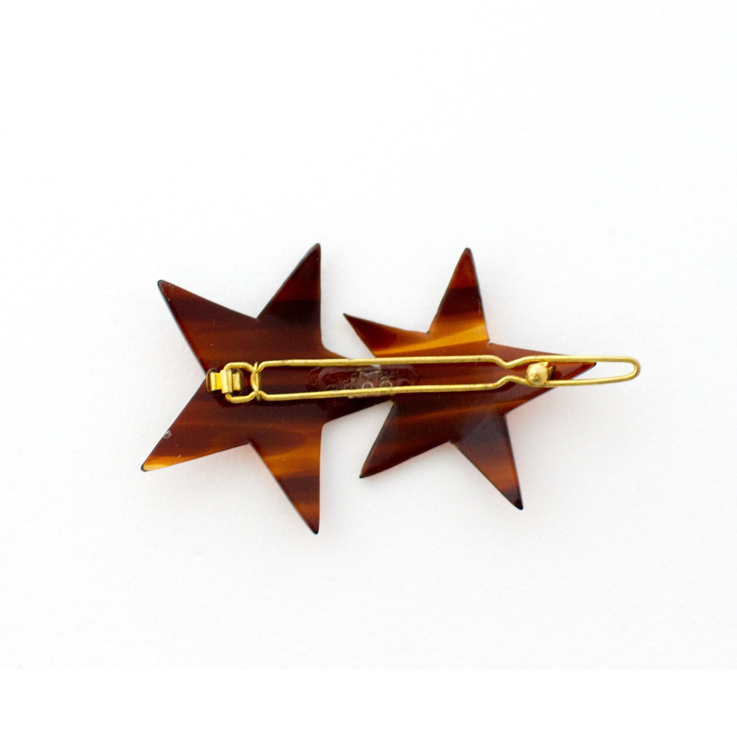 Vintage Double Star Barrette