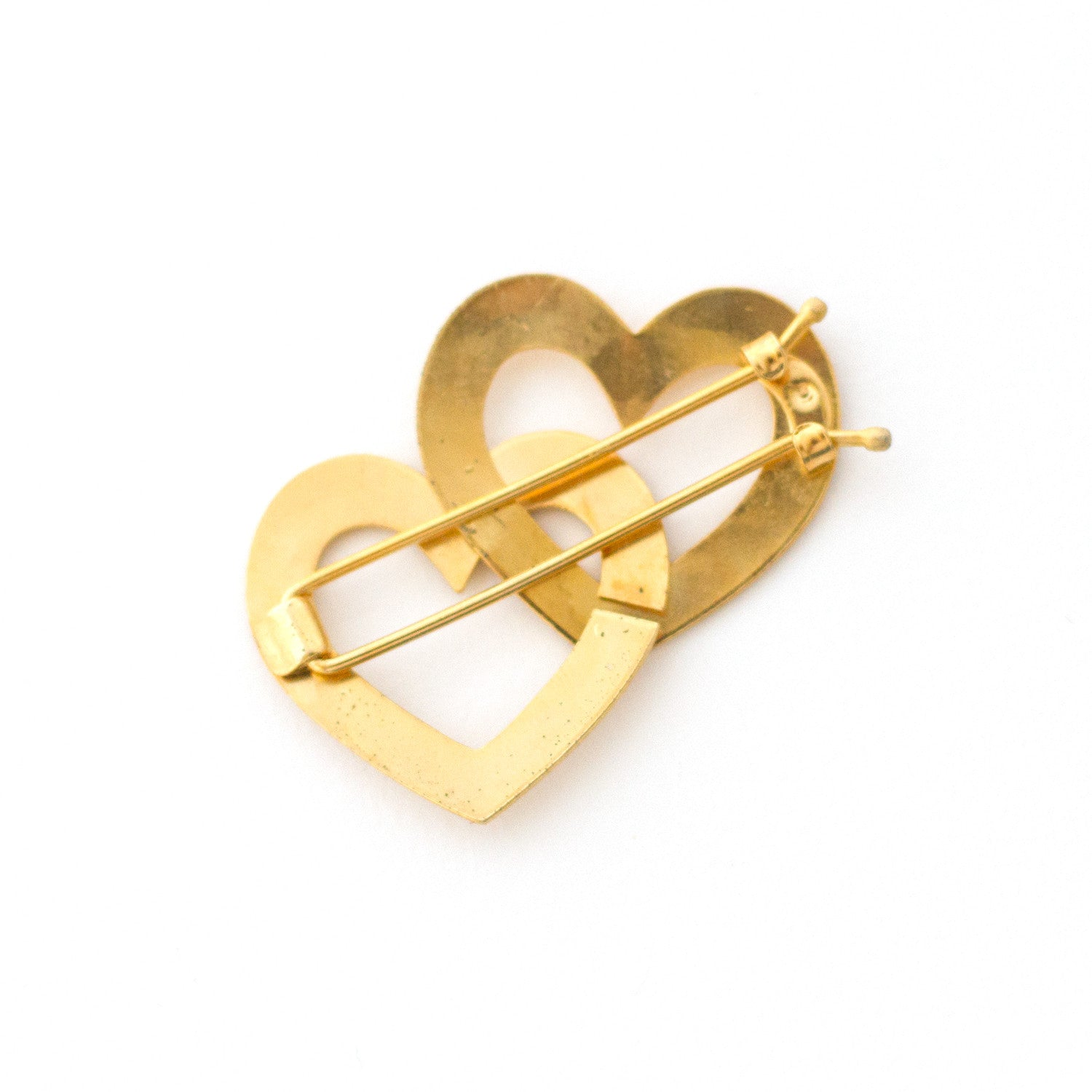 gold heart - vintage - made in france hair clip