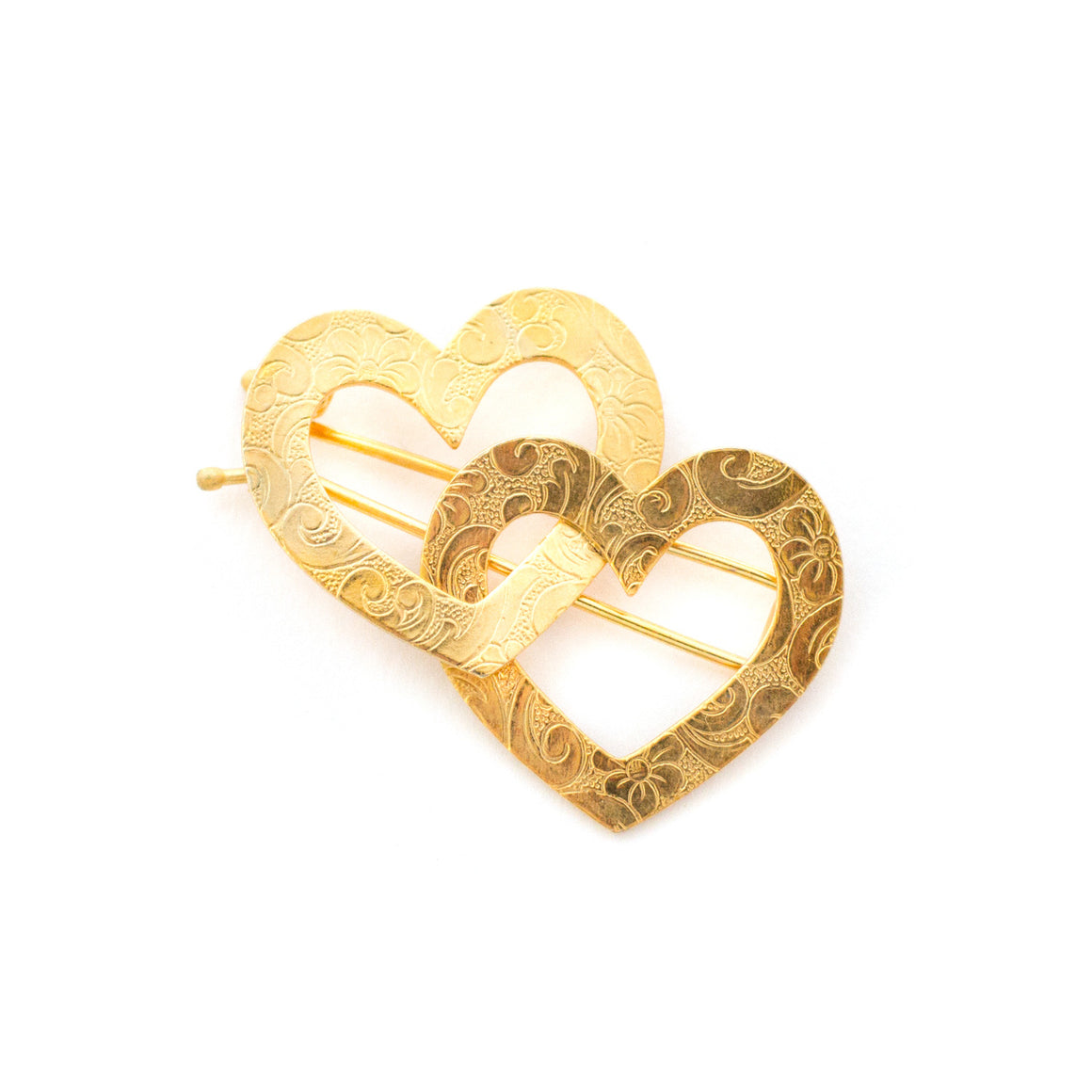 metal gold heart hair clip - embellishment - sweetheart
