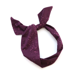Plum Dot Wire Headband