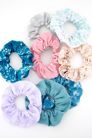 Teal Star Scrunchie