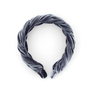 Grey Braided Headband