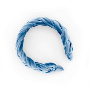 Blue Braided Headband