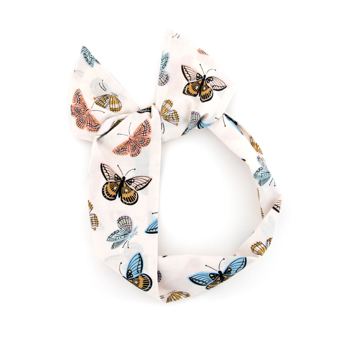 Cream Butterfly Wire Headband