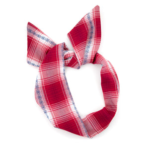 Red Plaid Wire Headband