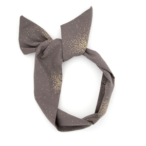 Warm Grey and Gold Wire Headband