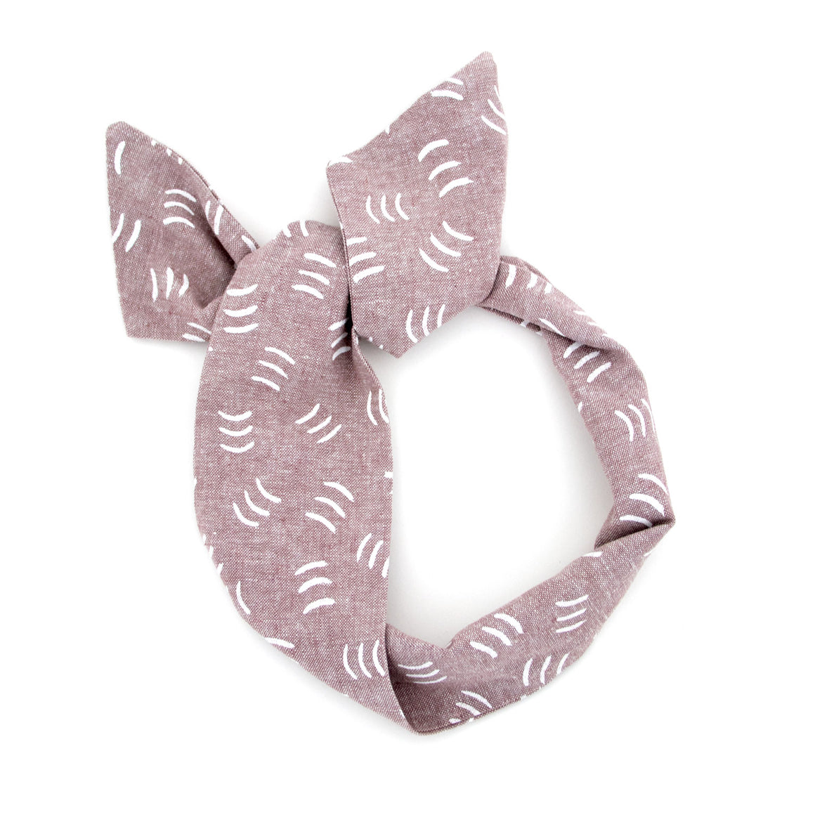 Mauve Squiggle Wire Headband