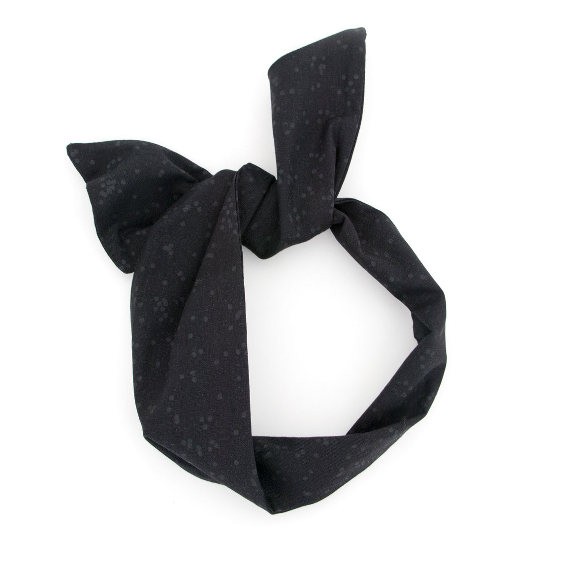 Black on Black Dot Wire Headband