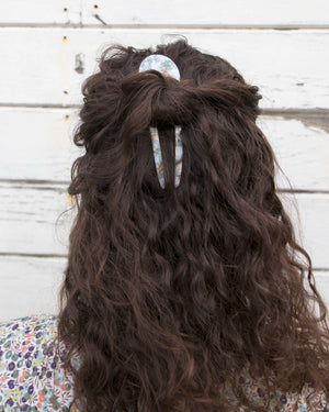 Grey Acetate Hair Pin