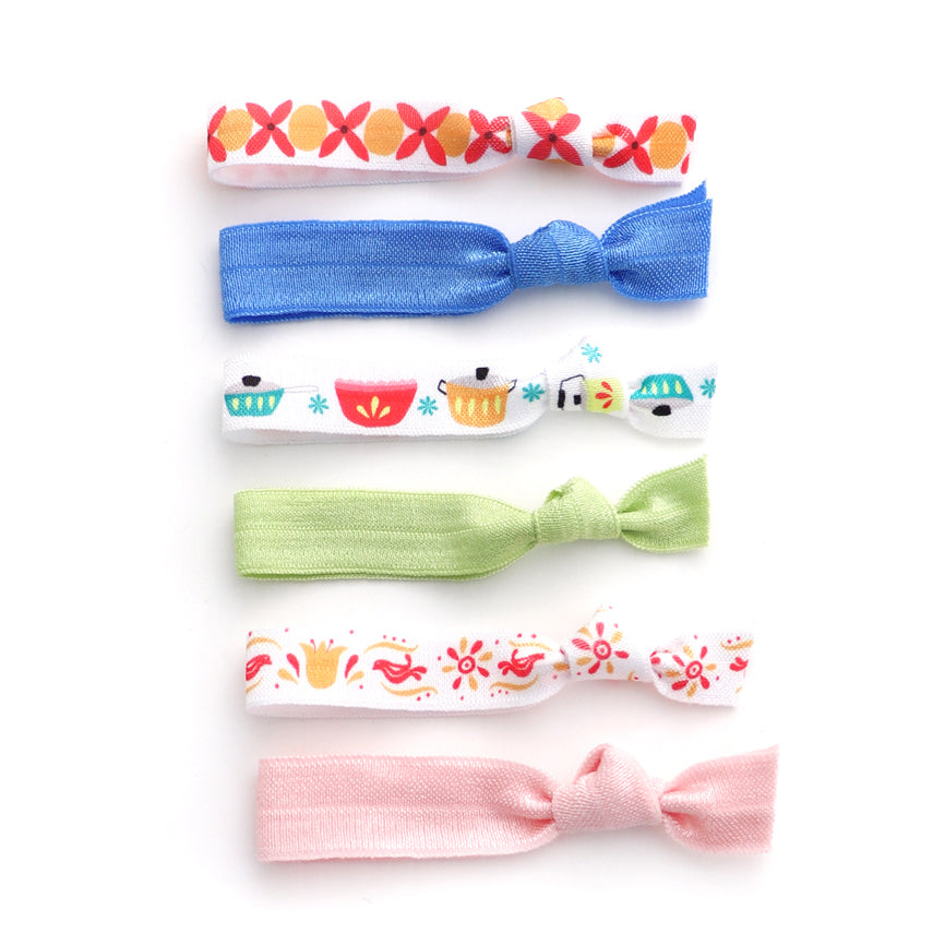 The Vintage Pyrex Hair Tie Package