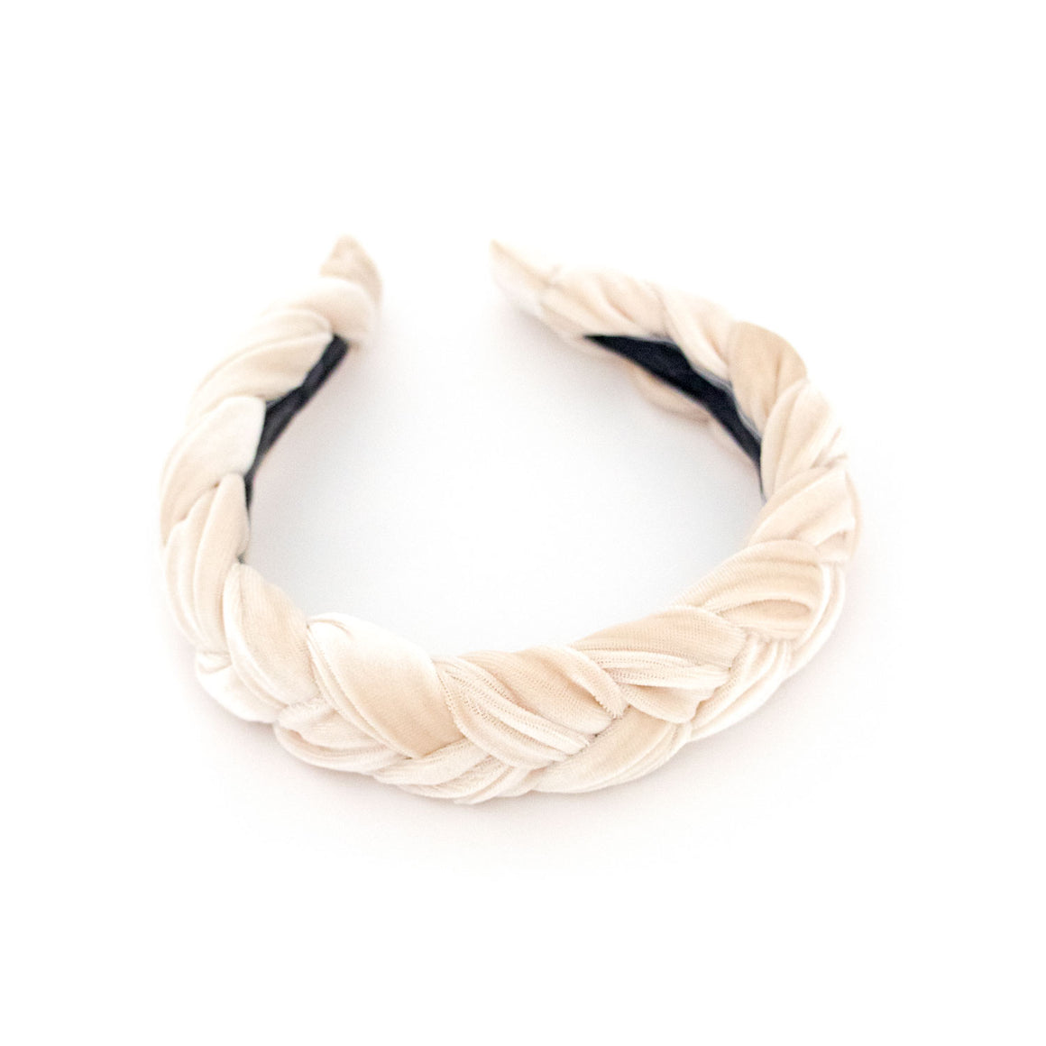 Cream Braided Headband