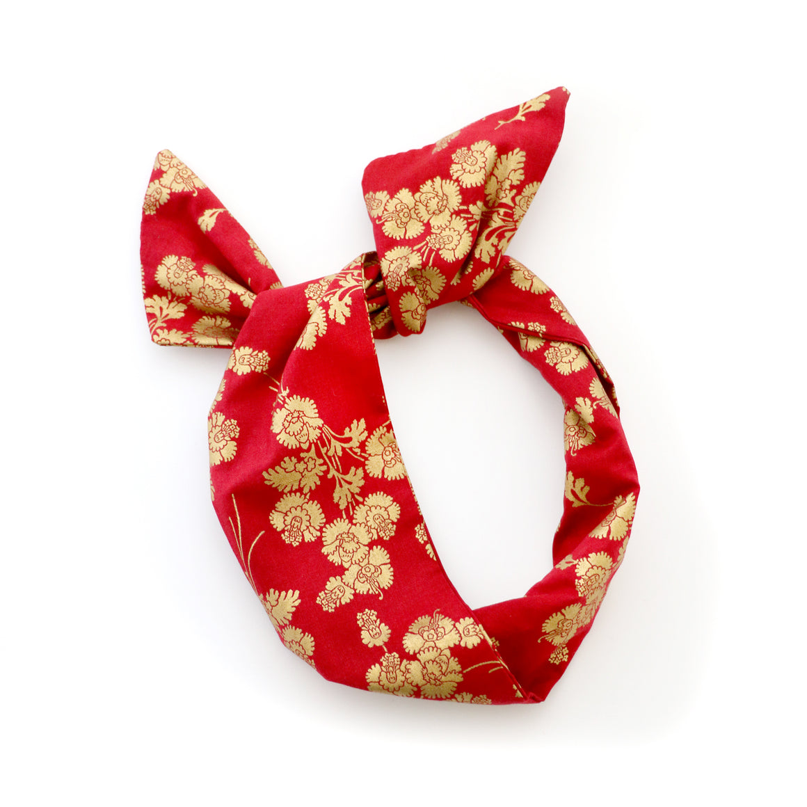 Red and Gold Wire Headband