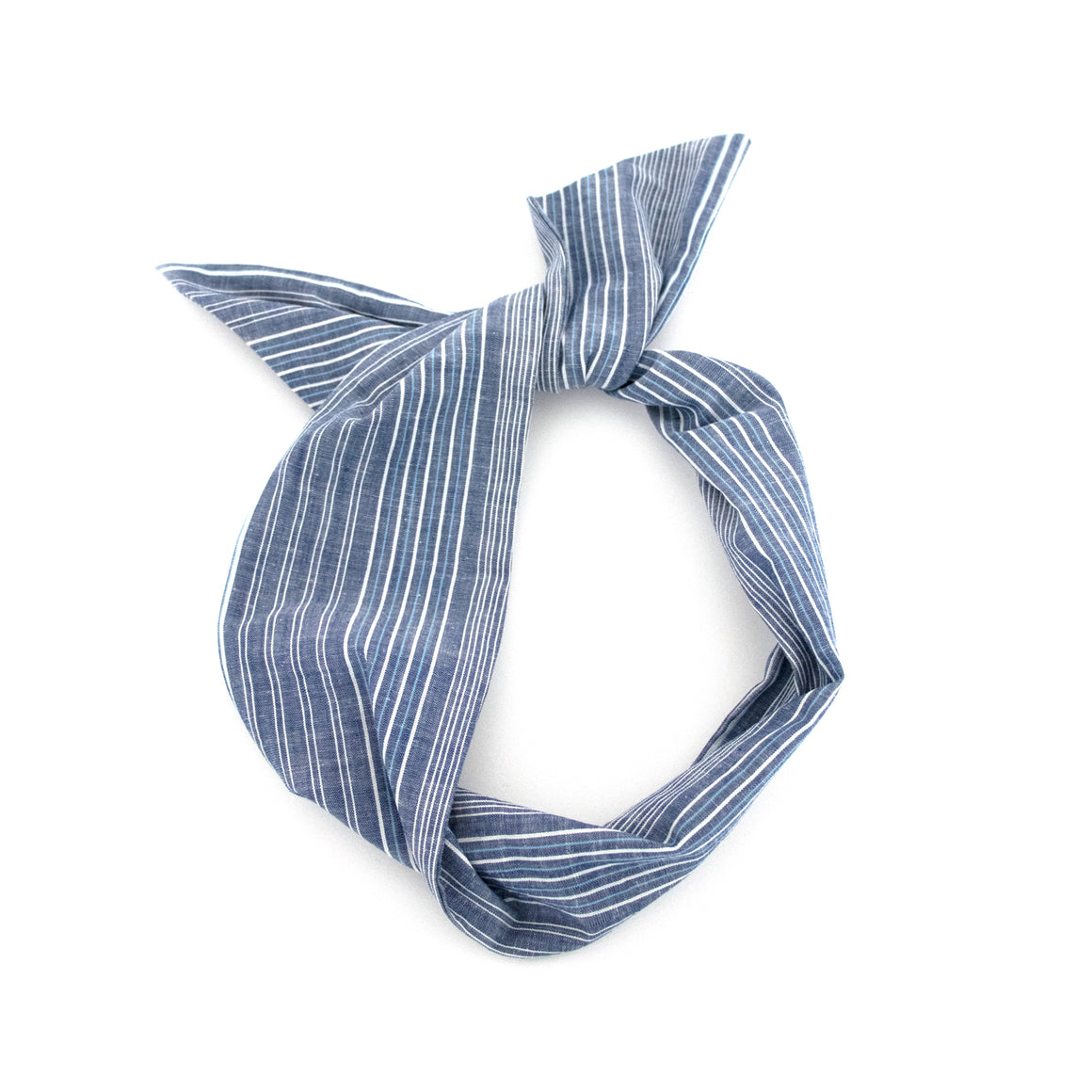 Chambray Stripe Wire Headband