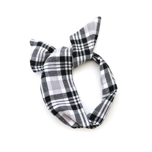 Black and White Flannel Wire Headband
