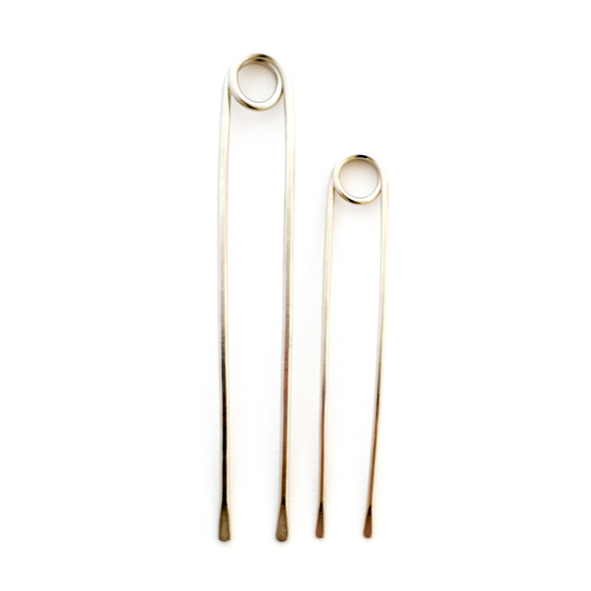 Silver Loop Hair Pins