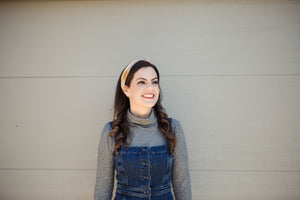 Neutral Gingham Wire Headband