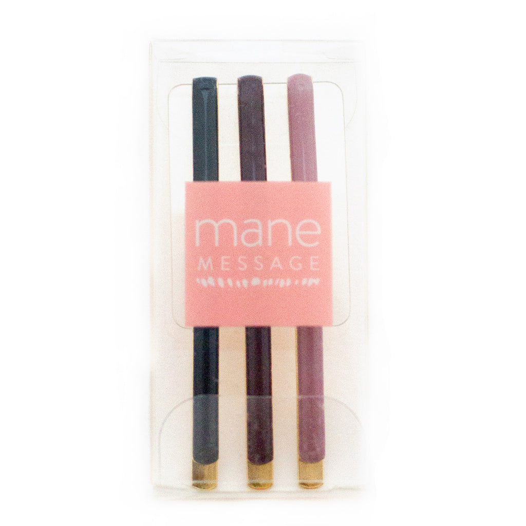 plastic sophisticated retail packaging for bobby pins by mane message