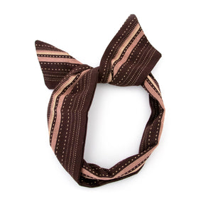 Brown Stitch Wire Headband