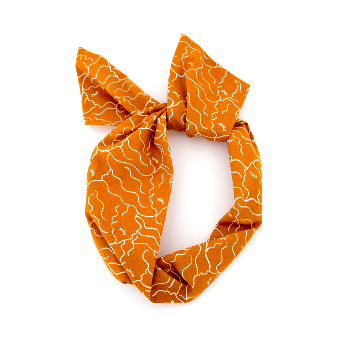 Orange Ladies Wire Headband