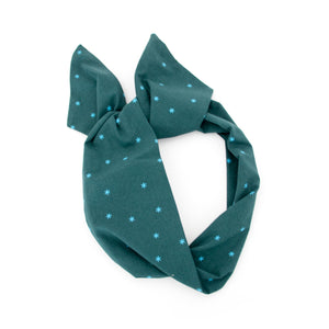 Teal Star Wire Headband